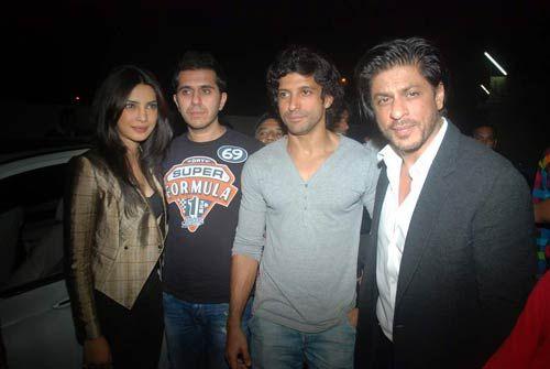 Priyanka Chopra, Ritesh Sidhwani, Farhan Akhtar and Shah Rukh Khan