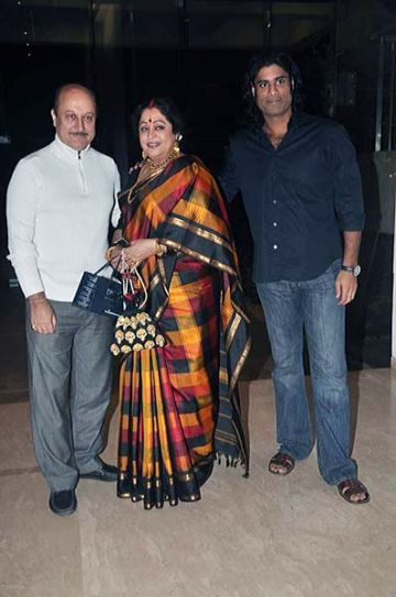 Kirron Kher with husband Anupam Kher