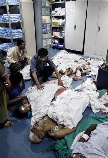 Dead bodies at AMRI hospital