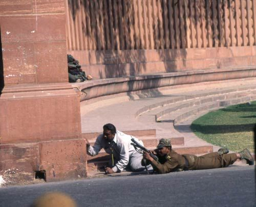 Security personnel at Parliament