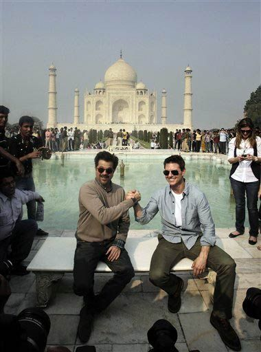 """Hollywood star Tom Cruise, who is on a worldwide promotional tour of his much-awaited film """"Mission Impossible: Ghost Protocol"""", landed in Delhi early on Saturday, December 3."""