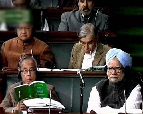 Pranab Mukherjee and Manmohan Singh