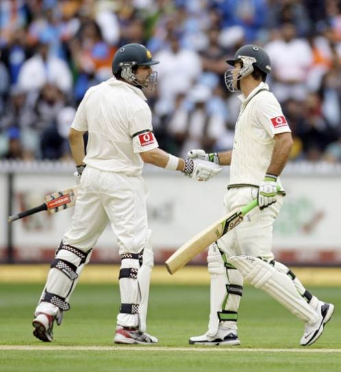 Ricky Ponting (right) and Ed Cowan