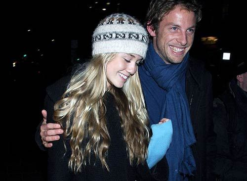Florence Brudenell-Bruce and Jenson Button