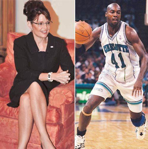 Sarah Palin and basketball player Glen Rice