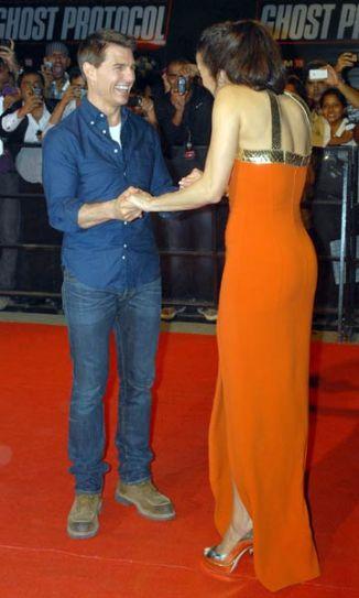 Tom Cruise and Paula Patton