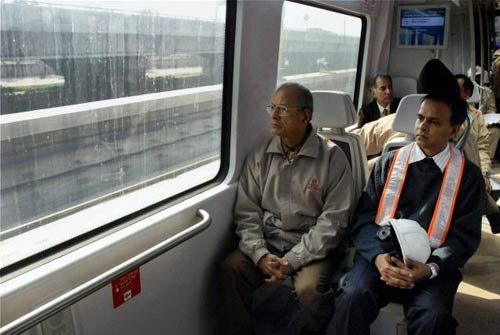 E. Sreedharan in Airport Express