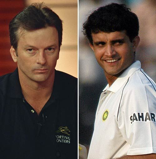 Sourav Ganguly and Steve Waugh