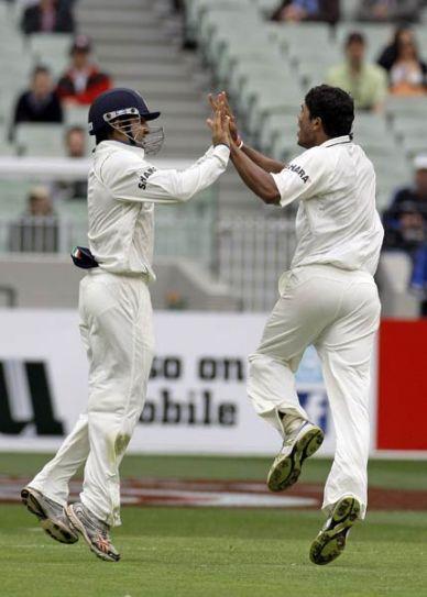 Umesh Yadav (right) and Gautam Gambhir
