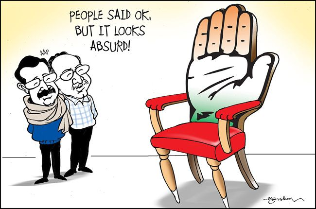 AAP-Congress government in Delhi, AAP, Public opinion, Arvind Kejriwal, Prashant Bhushan, Congress support to AAP
