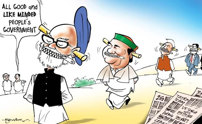 UPA govt mute, deaf and blind to scams