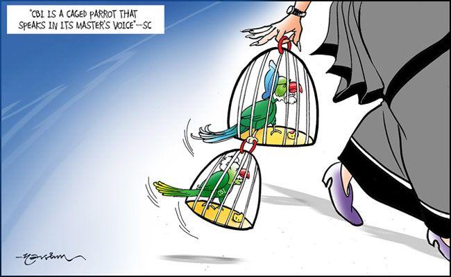 India Today's cartoonist Narsim's take on Supreme Court ruling on CBI's role in Coalgate scam.