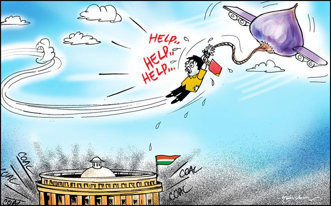 India Today cartoonist Narsim's take on parliament disruptions