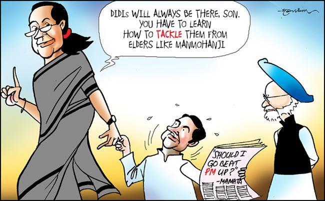 Rahul Gandhi, Sonia Gandhi, Manmohan Singh