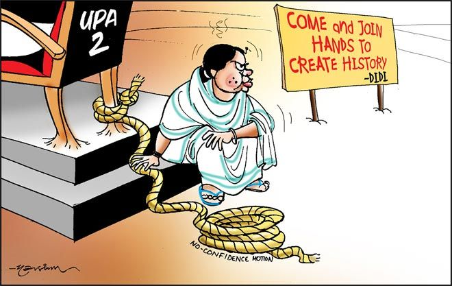 India Today cartoonist Narsim's take on Mamata Banerjee's tough love