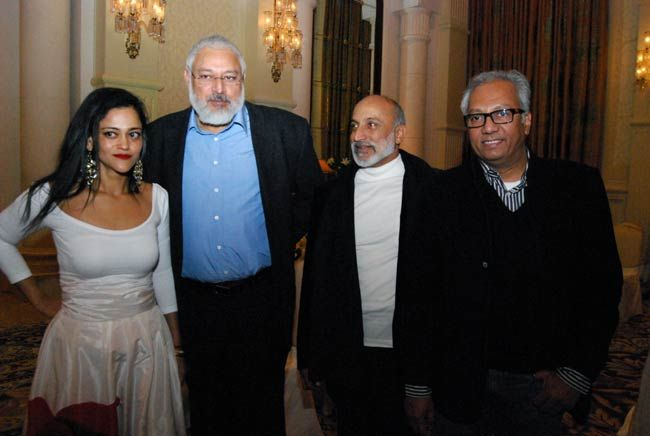 Kalli Purie and Arun Kapur and Aman Nath and Atul Dodiya