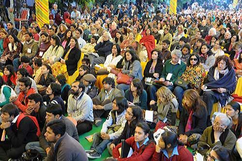 crowd at jaipur Literature Festival