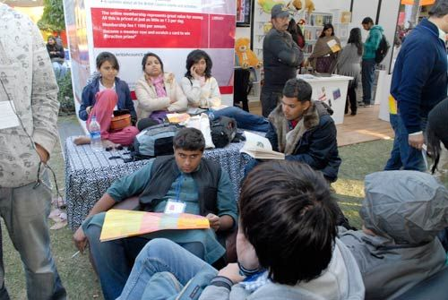 Readers at Jaipur Literature Festival