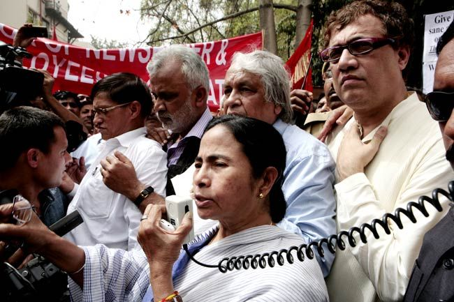 West Bengal chief minister Mamata Banerjee and Derek O'Brien