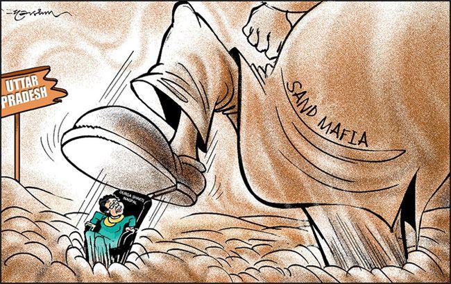 India Today cartoonist Narsim's take on IAS officer Durga Shakti's unceremonious suspension