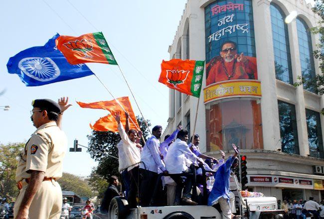 Maharashtra Municipal Corporation election 2012 celebrations