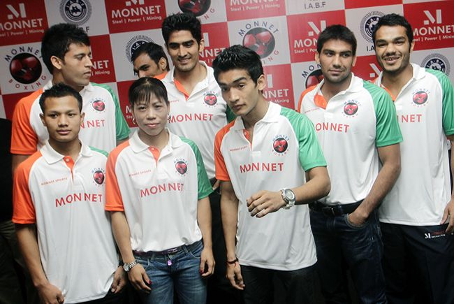 Indian boxing contingent for the Olympics 2012