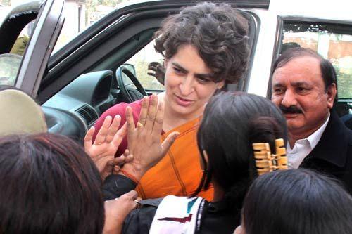 Priyanka Gandhi campaigns in Rae Bareli