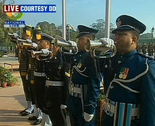 Soldiers at Amar Jawan Jyoti
