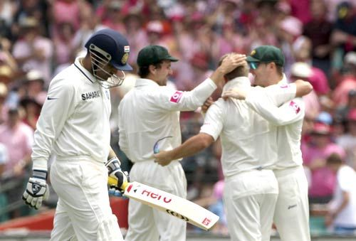 Virender Sehwag and Australian players
