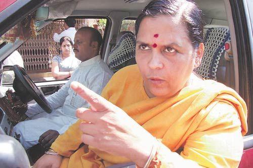 Senior BJP leader Uma Bharti