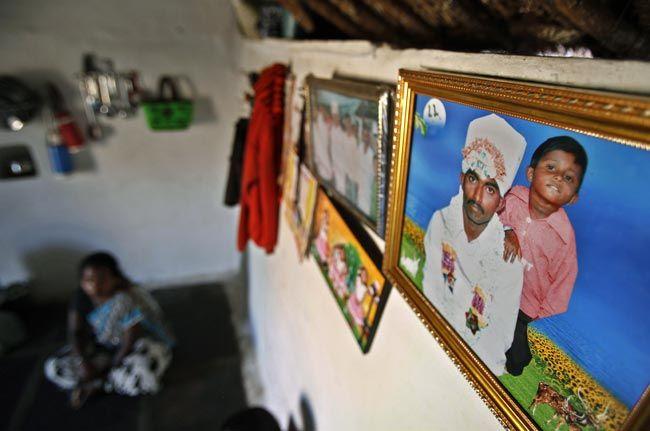 A photograph of debt-ridden Hari Prasad