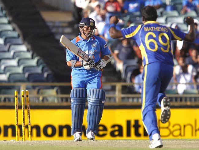 Sachin Tendulkar and Angelo Mathews