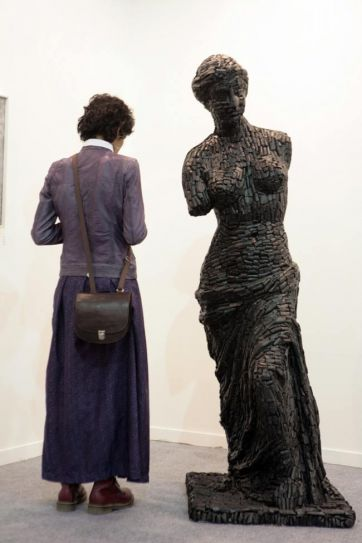 Visitor at India Art Fair