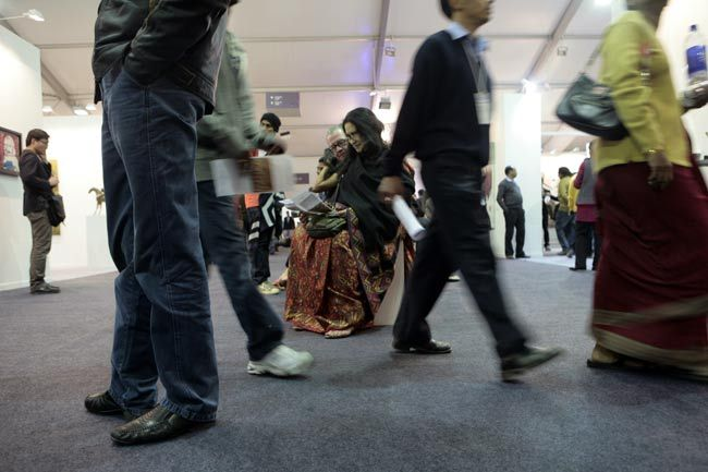 Visitors at India Art Fair