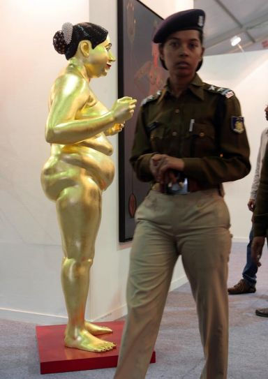 Policewoman at India Art Fair