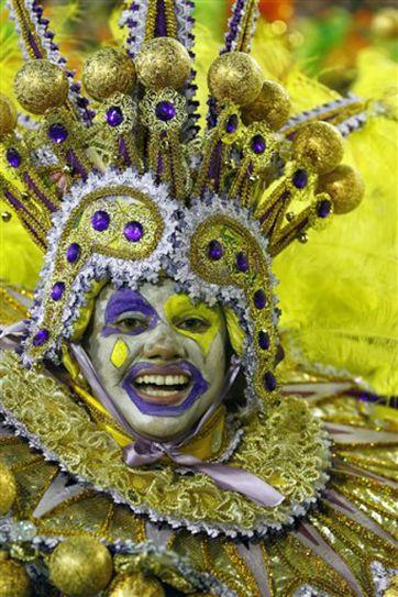 Sequin-clad samba dancers