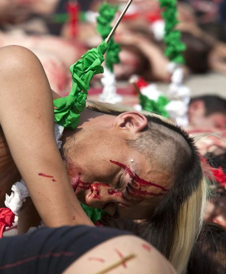 People against bullfighting