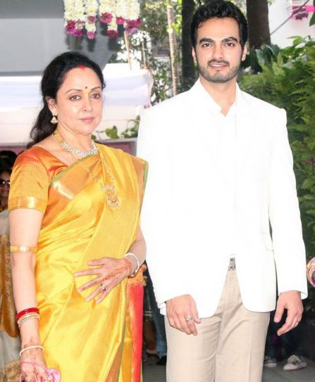 Hema Malini with son-in-law