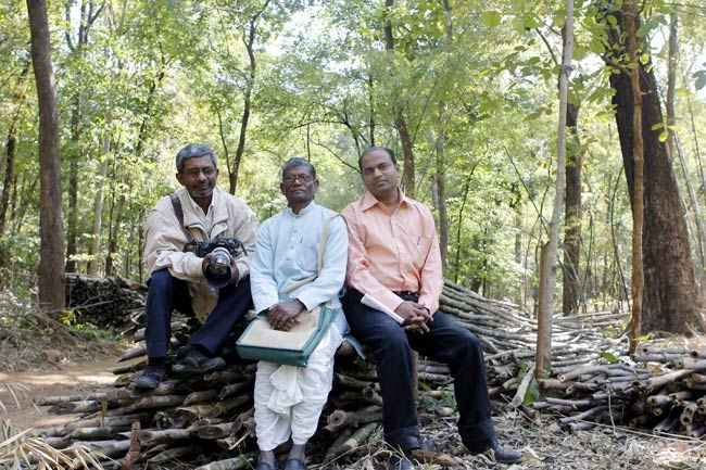 (From left) Bhaskar Paul, Devaji Tofa and Kiran Tare