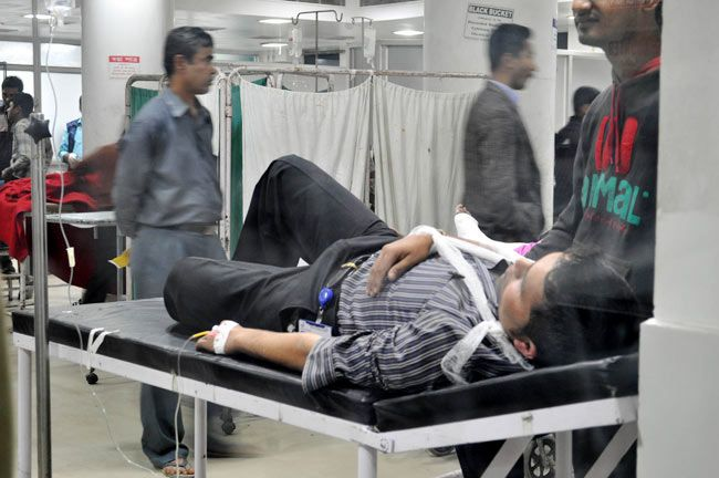Grenade blast victim