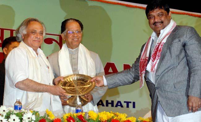 Minister for Rural Development Jairam Ramesh, Assam CM Tarun Gogoi