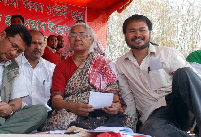 Medha Patkar and Akhil Gogoi