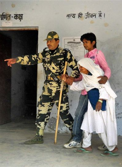 Voters during fourth phase of polling in Uttar Pradesh