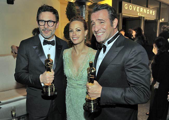 Michel Hazanavicius, Berenice Bejo and Jean Dujardin