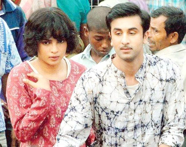 Priyanka Chopra and Ranbir Kapoor in Barfi