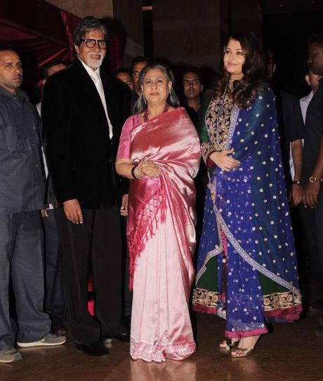 Aishwarya Rai Bachchan with her in-laws
