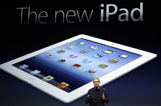 Tim Cook at the launch of the new iPad