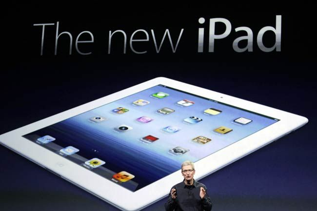 Tim Cook at the Apple iPad 3 launch