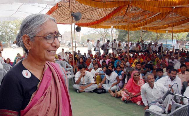 Aruna Roy at a meeting in Jaipur.