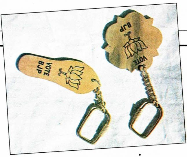 BJP symbols on keyrings